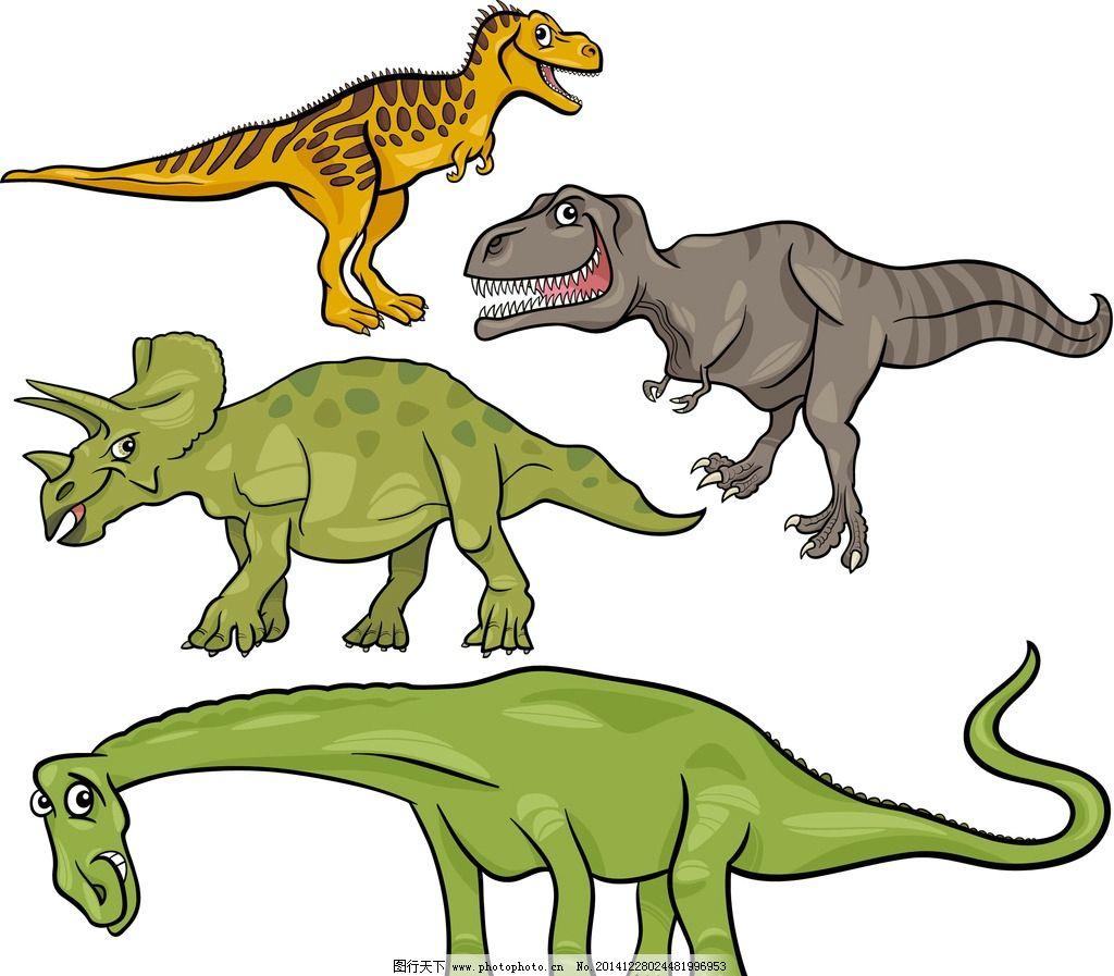 简笔画小恐龙配色