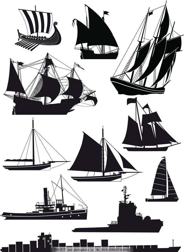 手绘船图片大全大图