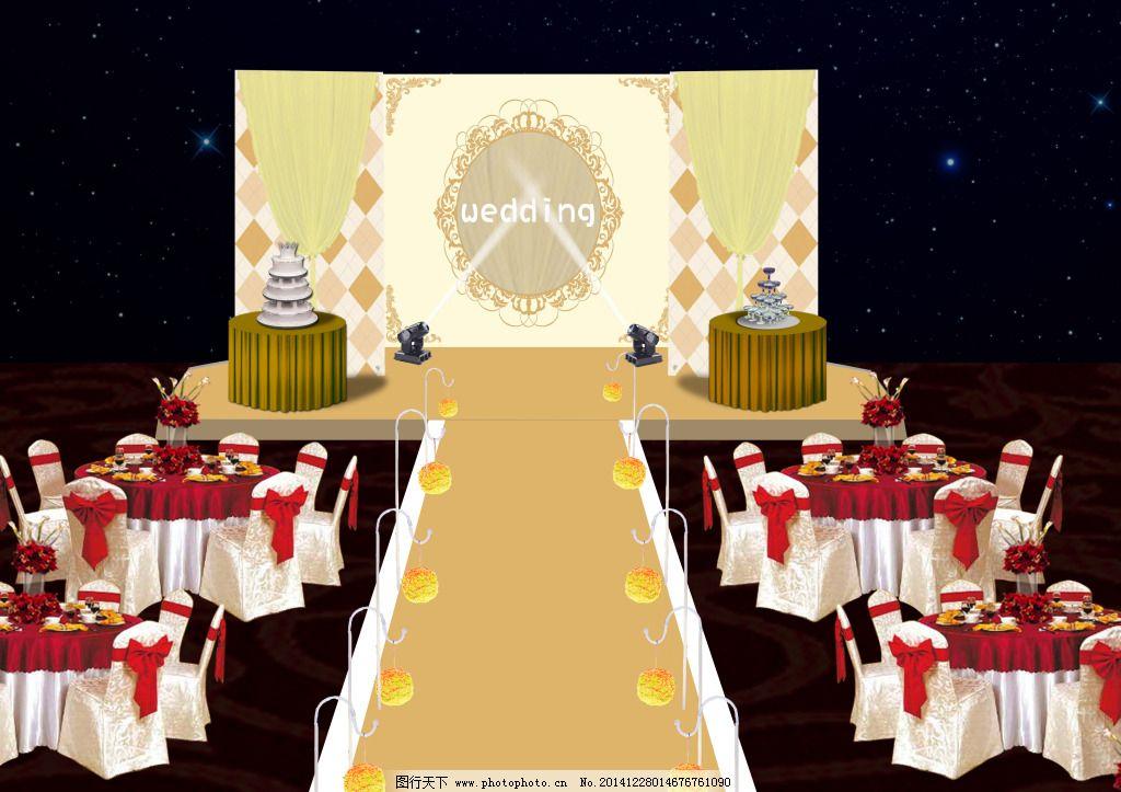 婚礼舞台免费下载 金色 香槟色舞台 欧式风格舞台 金色 原创设计 其他