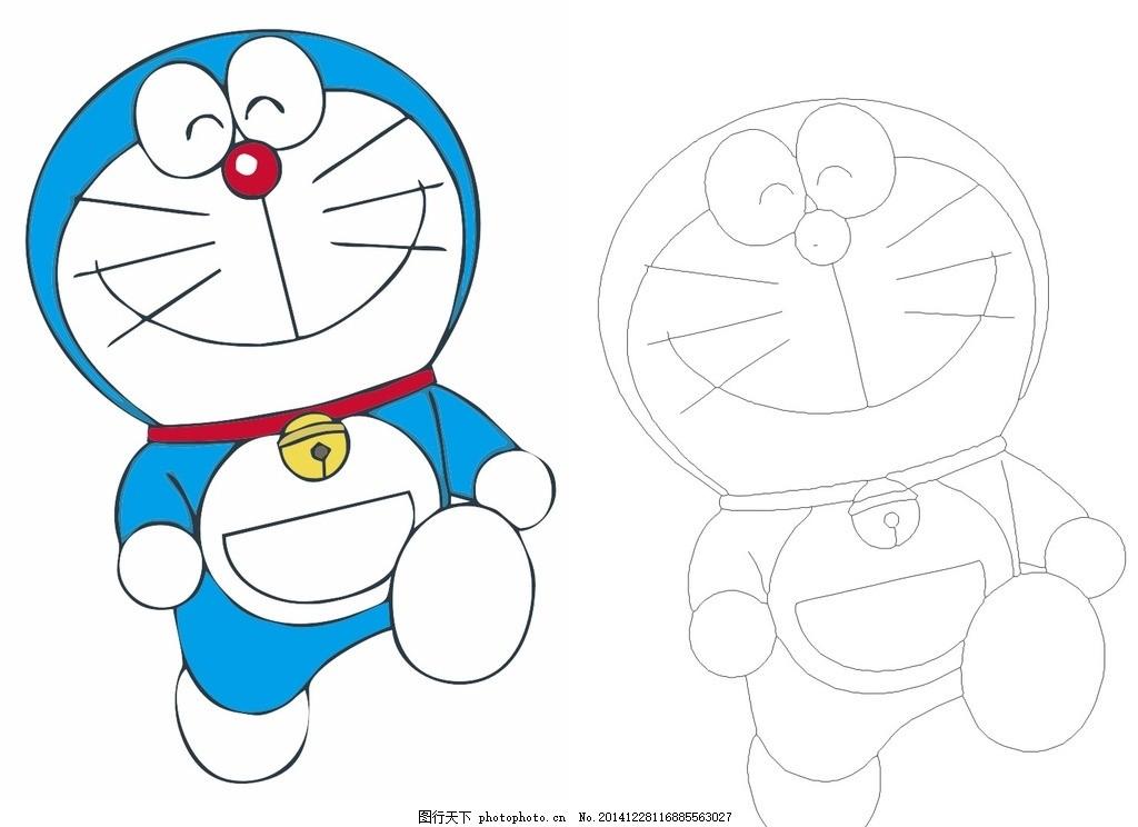 叮当猫矢量 叮当猫矢量图 动漫人物 日本动漫 动漫动画