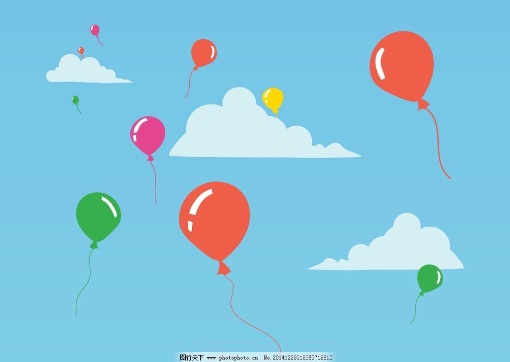 天空气球图片_动漫人物_动漫卡通_图行天下图库