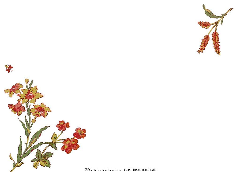 淡雅背景 花卉背景 手绘