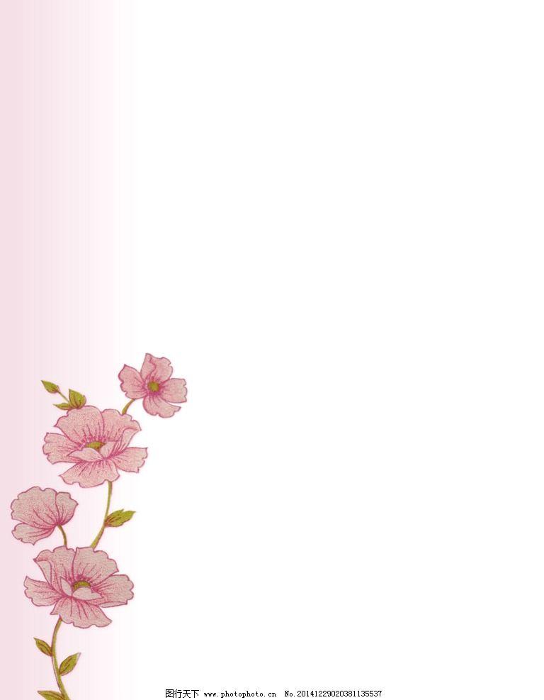 淡雅花卉背景图片,淡雅背景 手绘-图行天下图库