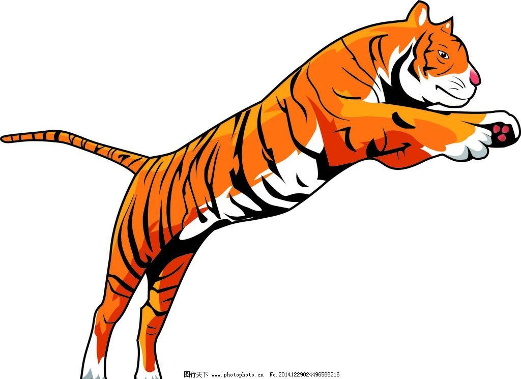老虎 跳跃 动物 马戏团 tiger 设计 生物世界 野生动物 cdr