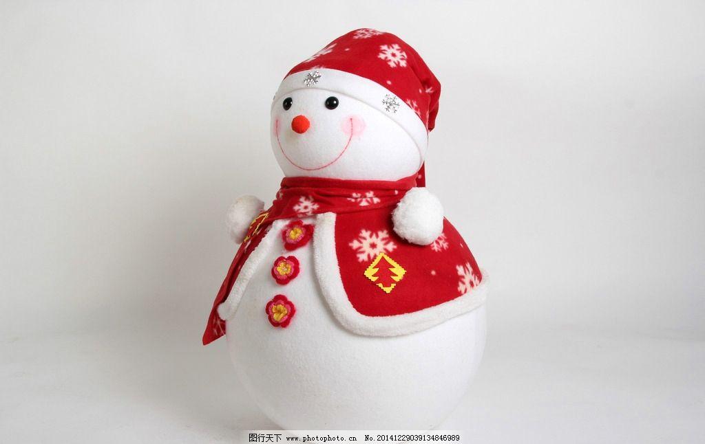 红色带帽雪人侧面图片,雪娃娃 卡通雪人 圣诞节 雪花图片