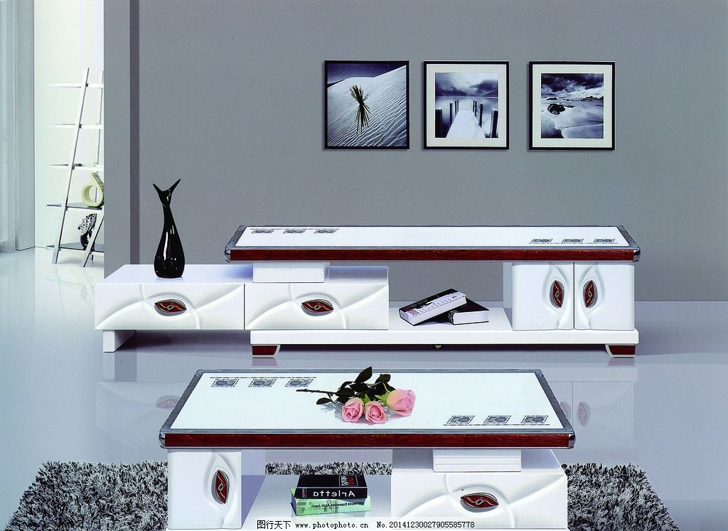 茶几 电视柜 时尚背景 白亮光 电视柜茶几 设计 环境设计 室内设计