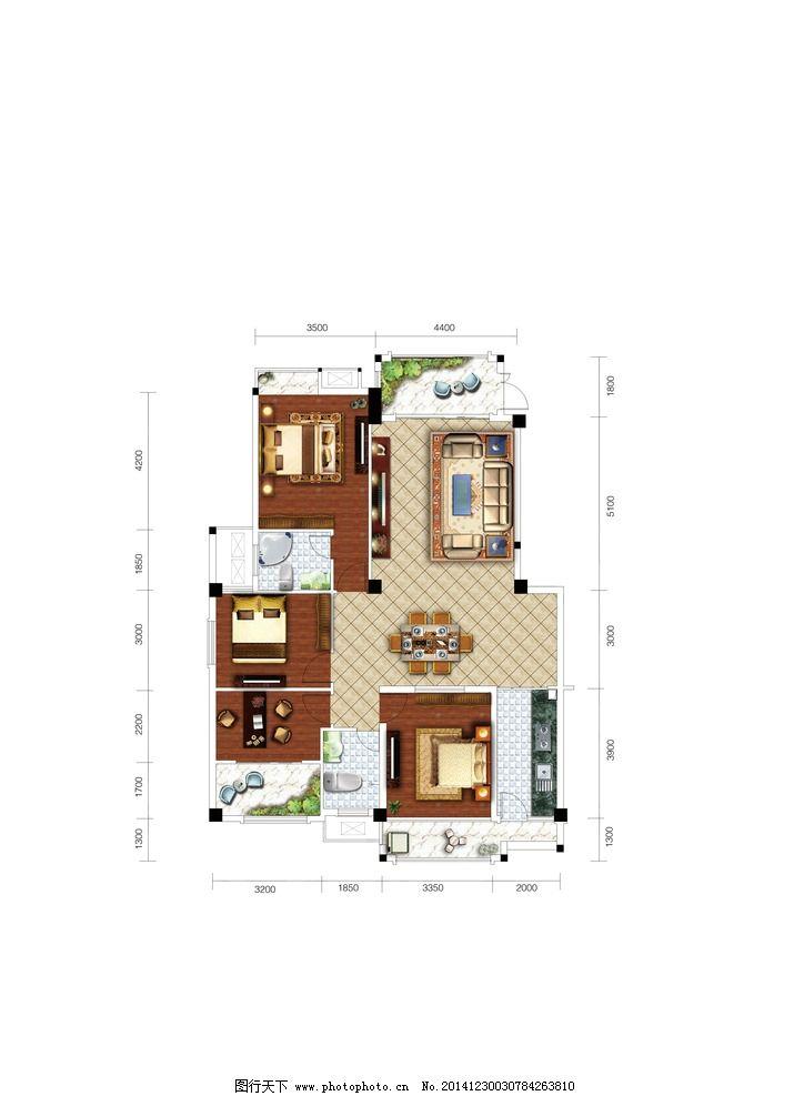 户型 房地产 平面图 俯视图 室内 室内广告设计