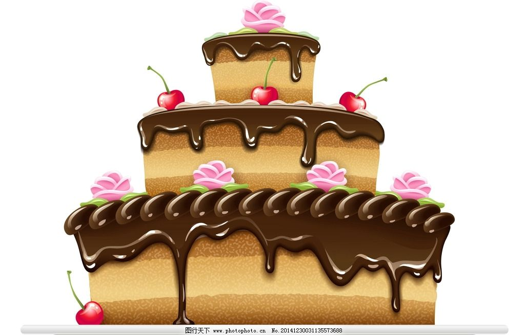 生日蛋糕 面包 手绘 美食 水果 奶油 早餐 西餐美食 餐饮 矢量