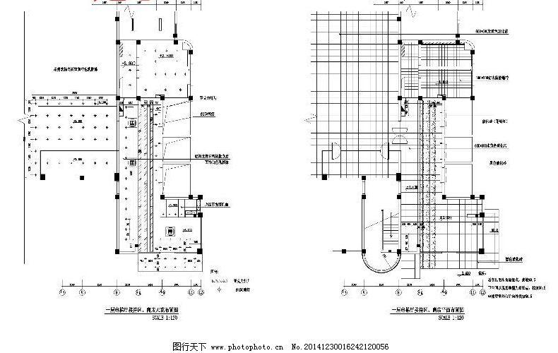 接待厅cad图 布置图 平面图 施工图 室内图纸