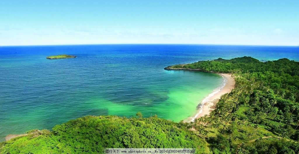 海边 鸟瞰图 大海 岛屿