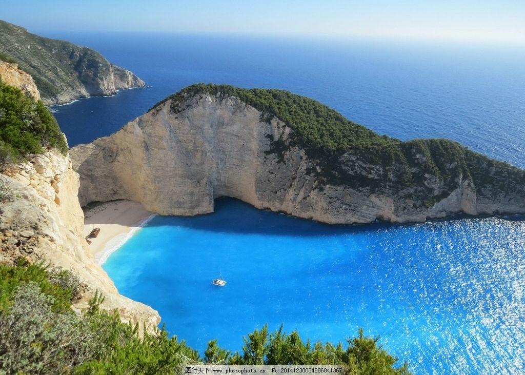 希腊海边风光 大海 山水 希腊风景 摄影