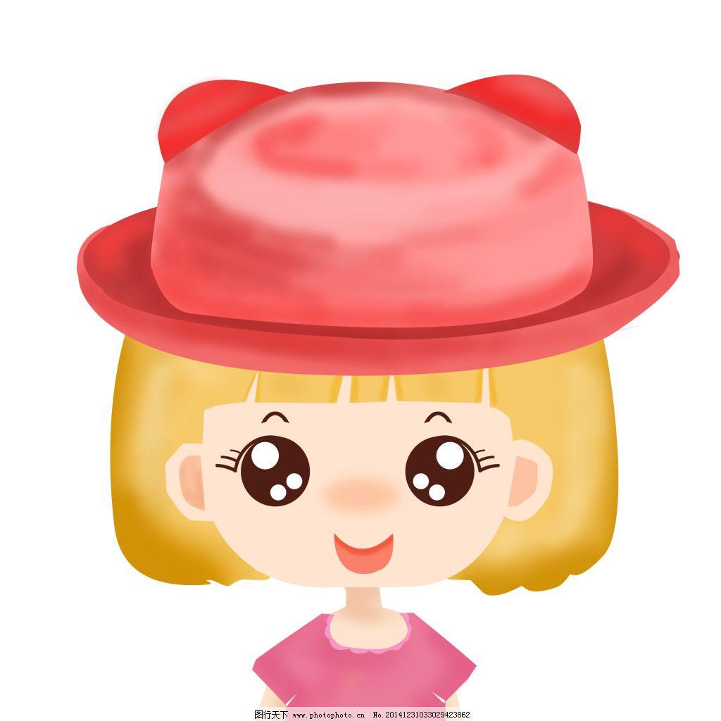 戴帽子的女孩免费下载 卡通漫画 可爱女孩 卡通漫画 可爱女孩 戴帽子