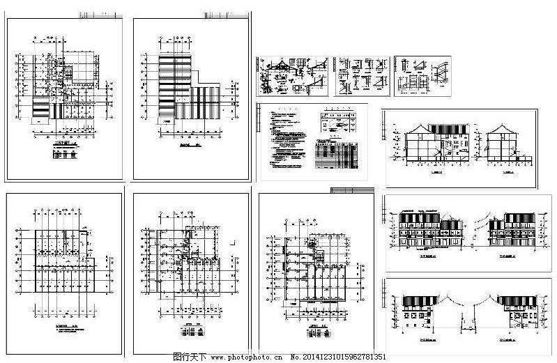 环境设计 园林设计  仿古清式建筑cad免费下载 cad图 建筑图 平面图