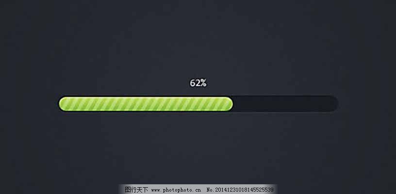 黑色网页进度条ui设计 大气 绿色 黑色色调