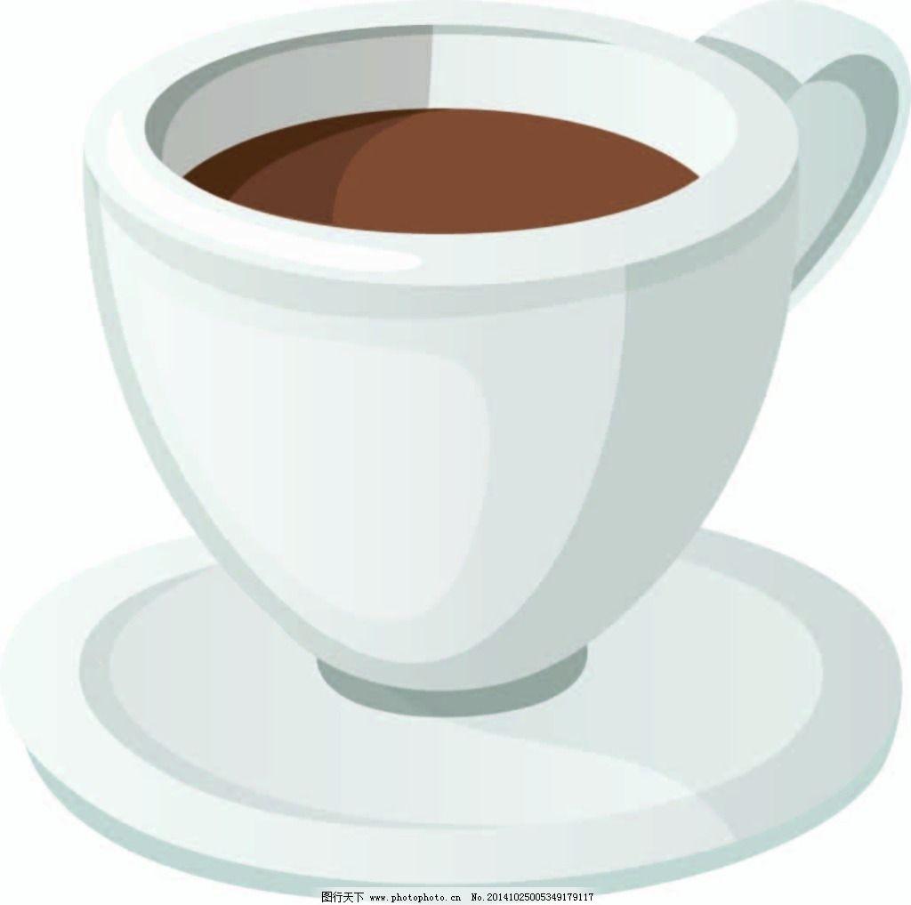 咖啡杯免费下载,手绘,白色杯子,矢量图,广告设计