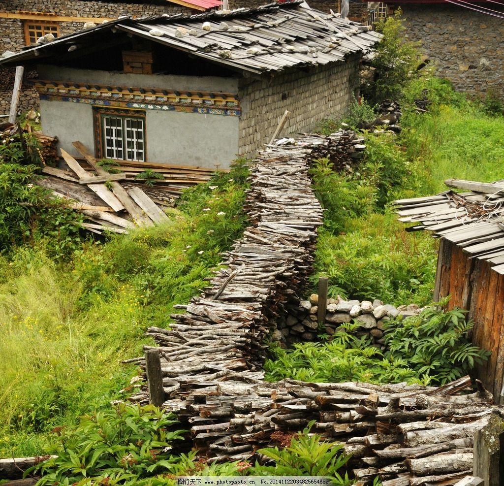 小户人家,农村景象,农村小屋,柴房,木柴,木材,户外摄影